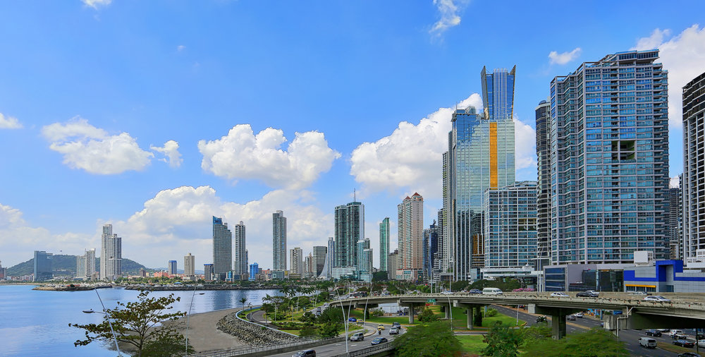 Avenida Balboa. Panama City, Panama.