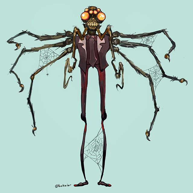 Daddy Long Legs #drawtober 17.  1.5 hours, iPad with stylus. #Bo365 sketchy art. | | #drawtober2017 #spiders #daddylonglegs #halloween #monster #monsters #darkart #drawing #illustration #artwork #artist #instadaily #igdaily #instaart #sketch #sketchaday #painting #digitalart #digitalpainting #instaartist #instadraw #artstagram #artistsoninstagram
