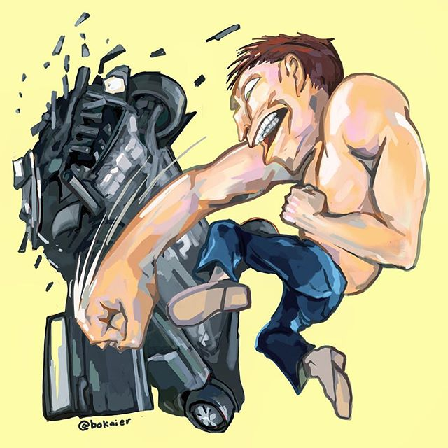 Car Wrecked - Furious - #inktober 21.  2.5 hours, started with pen drawing, finished on iPad with stylus. #Bo365 sketchy art. | | #inktober2017 #furious #roadrage #beefy #drawing #illustration #drawllowen #artwork #artist #instadaily #igdaily #instaart #sketch #sketchaday #painting #digitalart #digitalpainting #instaartist #instadraw #artstagram #artistsoninstagram