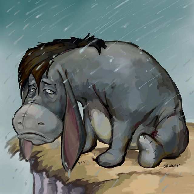 Someone should really check on Eeyore. October 25 (freestyle). 3 hours, iPad with stylus. #Bo365 sketchy art. | | #eeyore #WinnieThePooh #disney #drawing #illustration #artwork #artist #instadaily #igdaily #instaart #sketch #sketchaday #painting #digitalart #digitalpainting #instaartist #instadraw #artstagram #artistsoninstagram