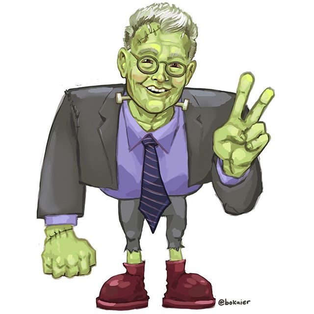 Senator Al Frankenstein - Franken Friday - #drawlloween 27.  2.5 hours, iPad with stylus. #Bo365 sketchy art. | | #drawlloween2017 #halloween #franken #alfranken #politics #frankenstein #caricature #drawing #illustration #artwork #artist #instadaily #igdaily #instaart #sketch #sketchaday #painting #digitalart #digitalpainting #instaartist #instadraw #artstagram #artistsoninstagram