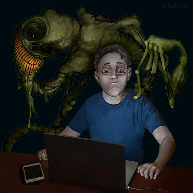 Home Alone (?). #Bo365 sketchy art.  #monster #monsters #fear #darkart #horrorart #digitalart #digital #art #drawing #illustration #art #artwork #artist #instadaily #igdaily #instaart #painting #original #digitalart #digitalpainting #instaartist #instadraw #artstagram #artistsoninstagram