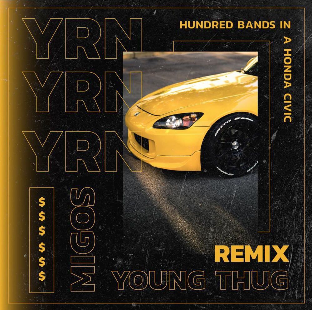 YRN  Mockup single album cover for the EZRA YRN Remix that is no longer on soundcloud.