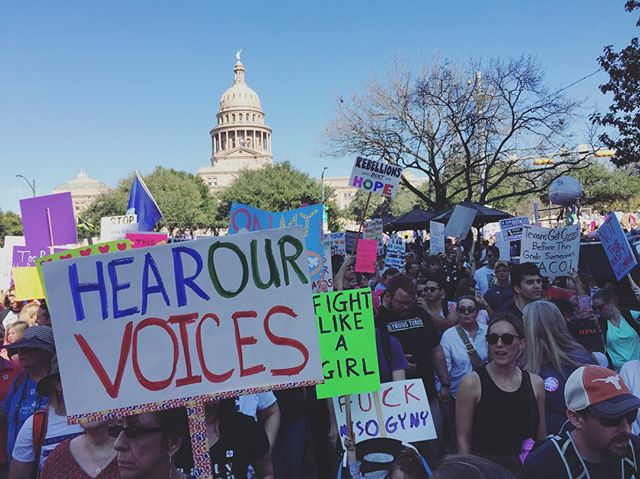 Gettin' it goin' Austin!  Whoop whoop!  #womensmarch
