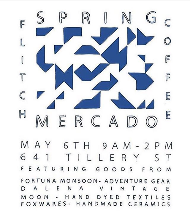 Join us at Flitch Coffee this Saturday for market featuring some of the finest local makers and vintage!  I'll have some special new bags out there too 😉