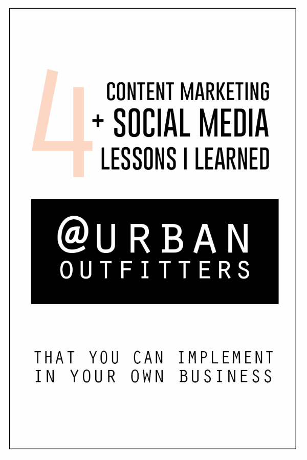 Want to know what big companies like Urban Outfitters do to market with online content + social media?  You can implement these same strategies into your own business!!