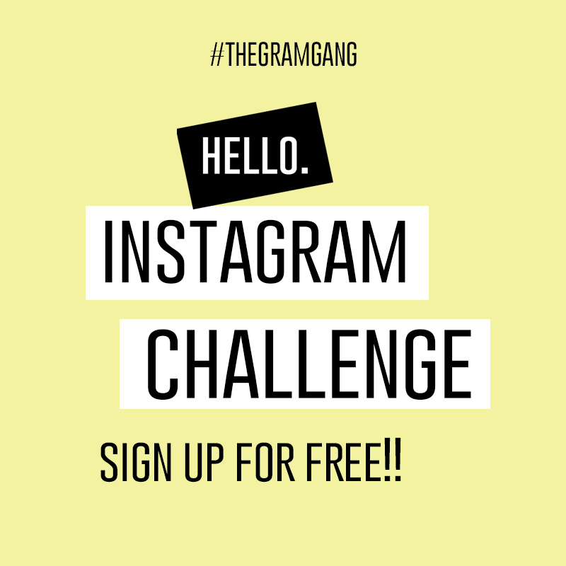 Sign up for the all new Totally Free Gram Gang Instagram Prompt Challenge! Learn what to post on Instagram to build your business on the platform!