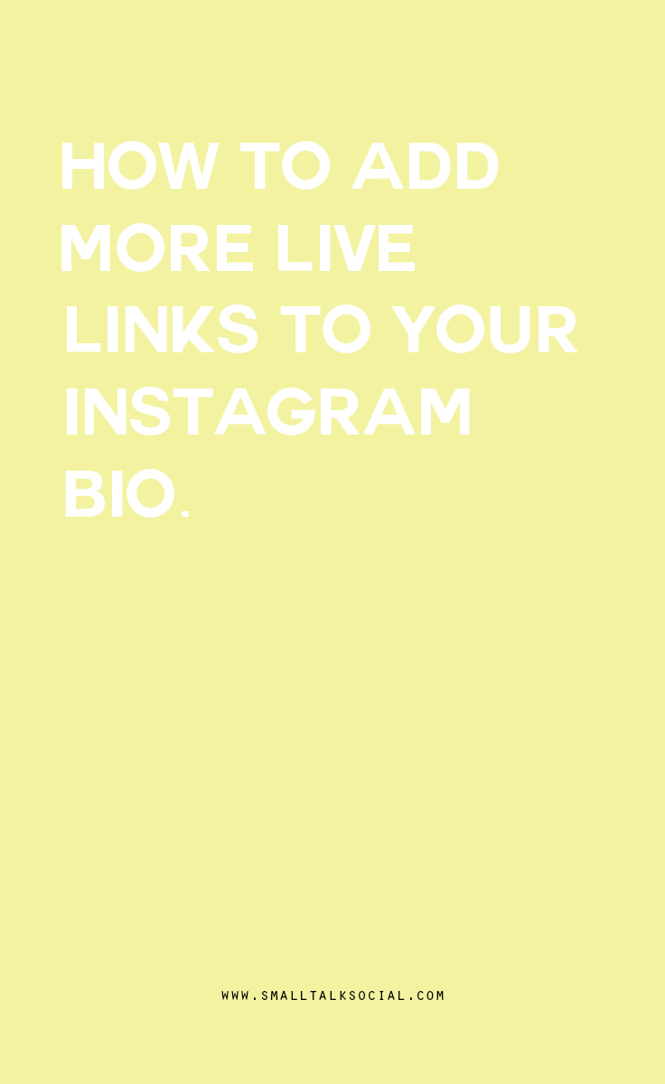 Dont settle for ONE LINK on Instagram!! You can use a third party service to turn your Instagram images into live links that followers can click through!