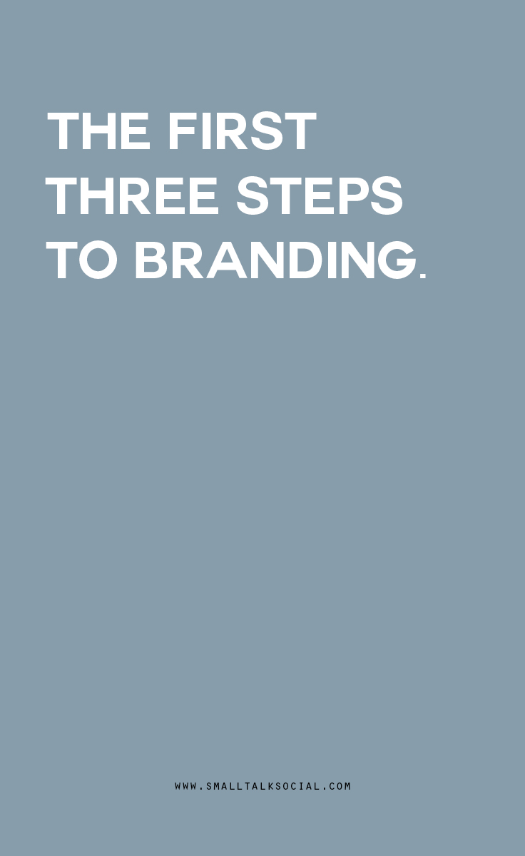 Do you know the first three steps to take to brand your business?  And no, none of them are designing your logo.  A guest post from blogger + designer Kaitlyn of The Crown Fox explains what you should focus on FIRST...