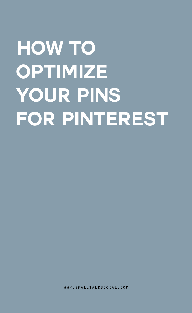 How to optimize every image on your blog for Pinterest before hitting publish | Preparing your blog for the Smart Feed.