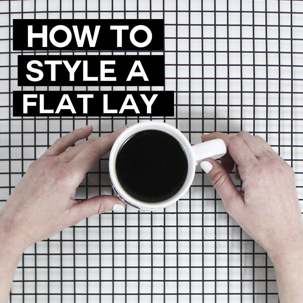 How to style a flat lay photo for Instagram from Small Talk Social