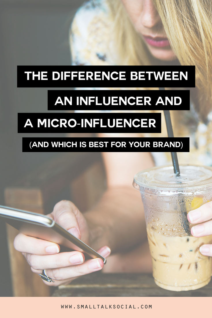 Learn how to tell the difference between an influencer and a micro-influencer! Plus ways to figure out which type of influencer is right for your brand.