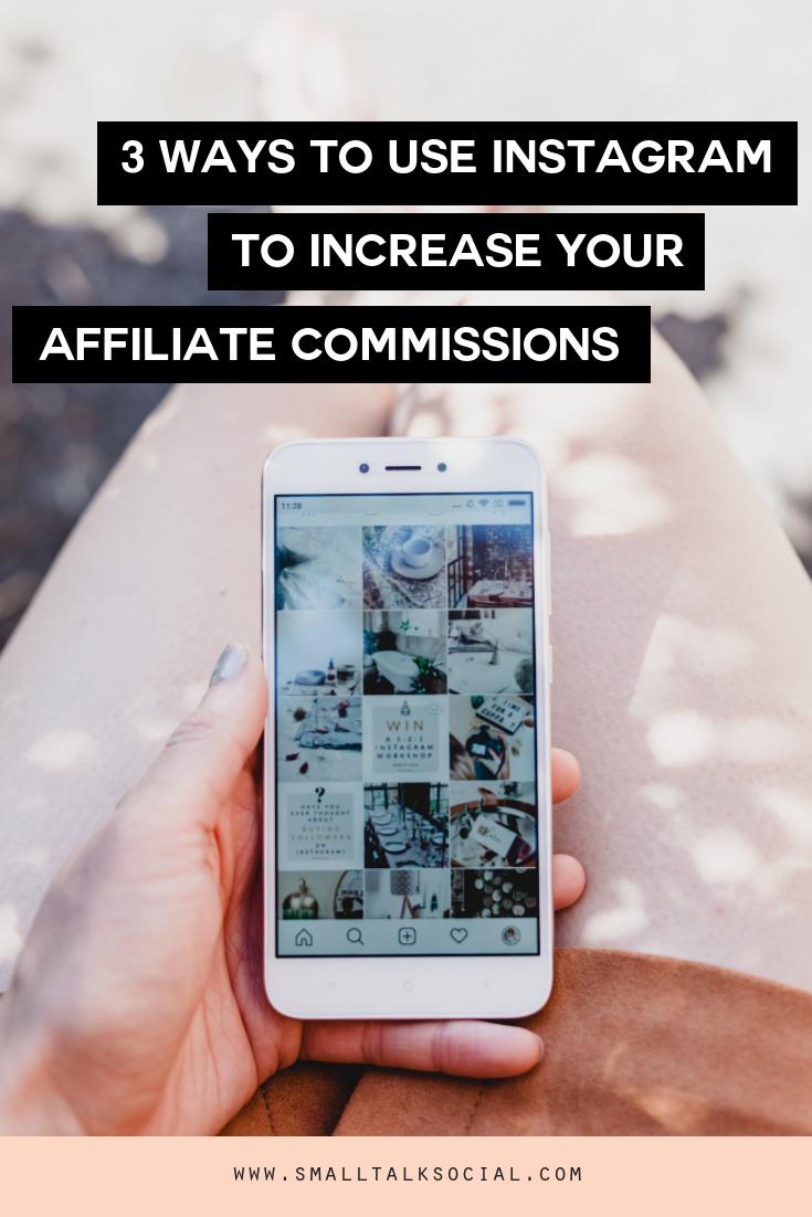 instagram affiliate commissions
