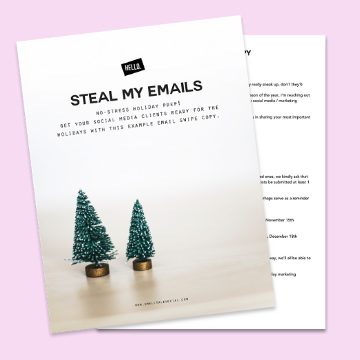 How to Prepare Your Social Media Clients For the Holidays