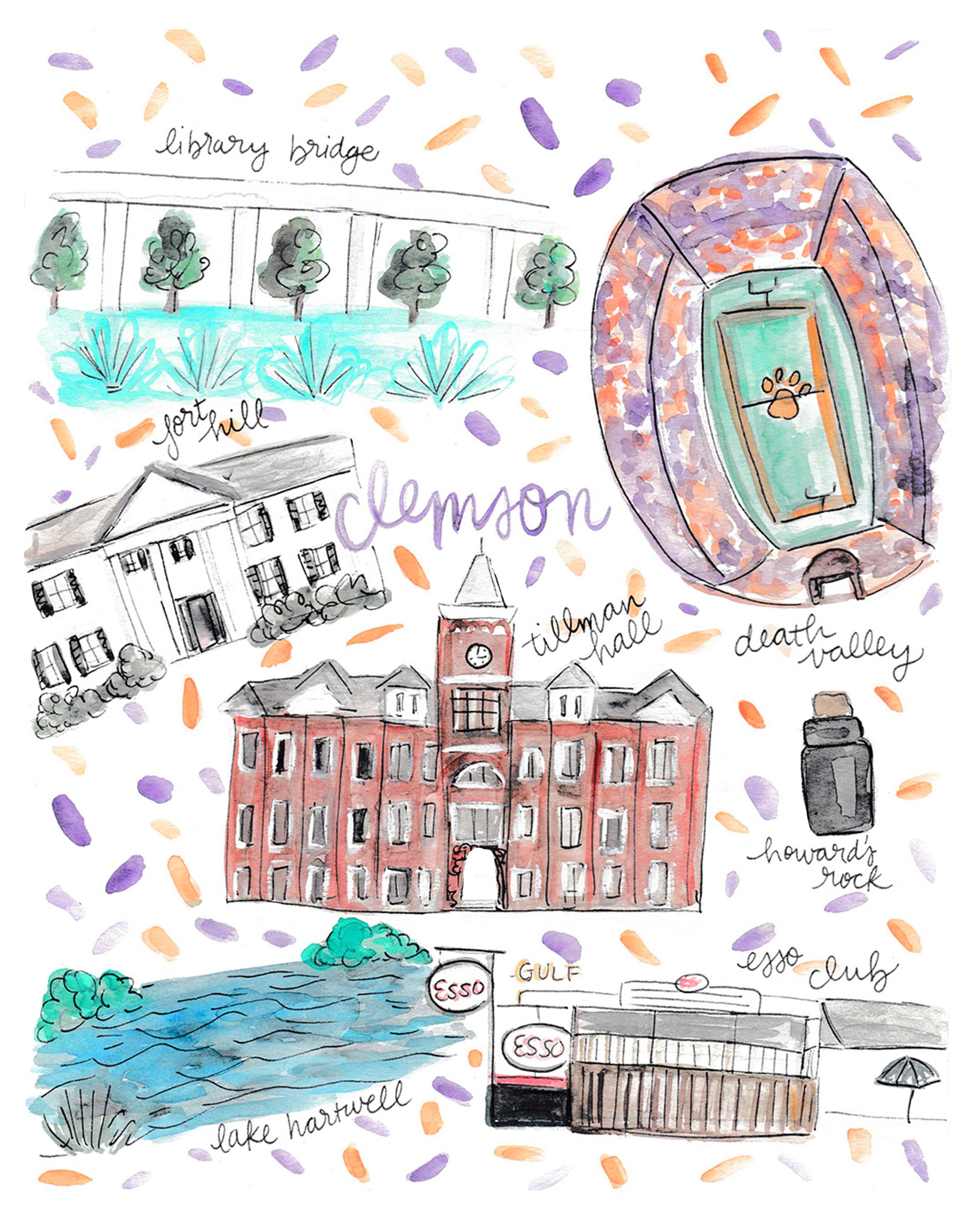 Clemson University Map — Rachel Tenny on