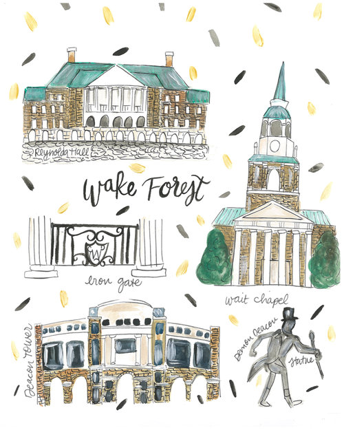 Wake Forest University Map — Rachel Tenny