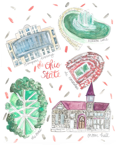 Ohio State University Map Rachel Tenny