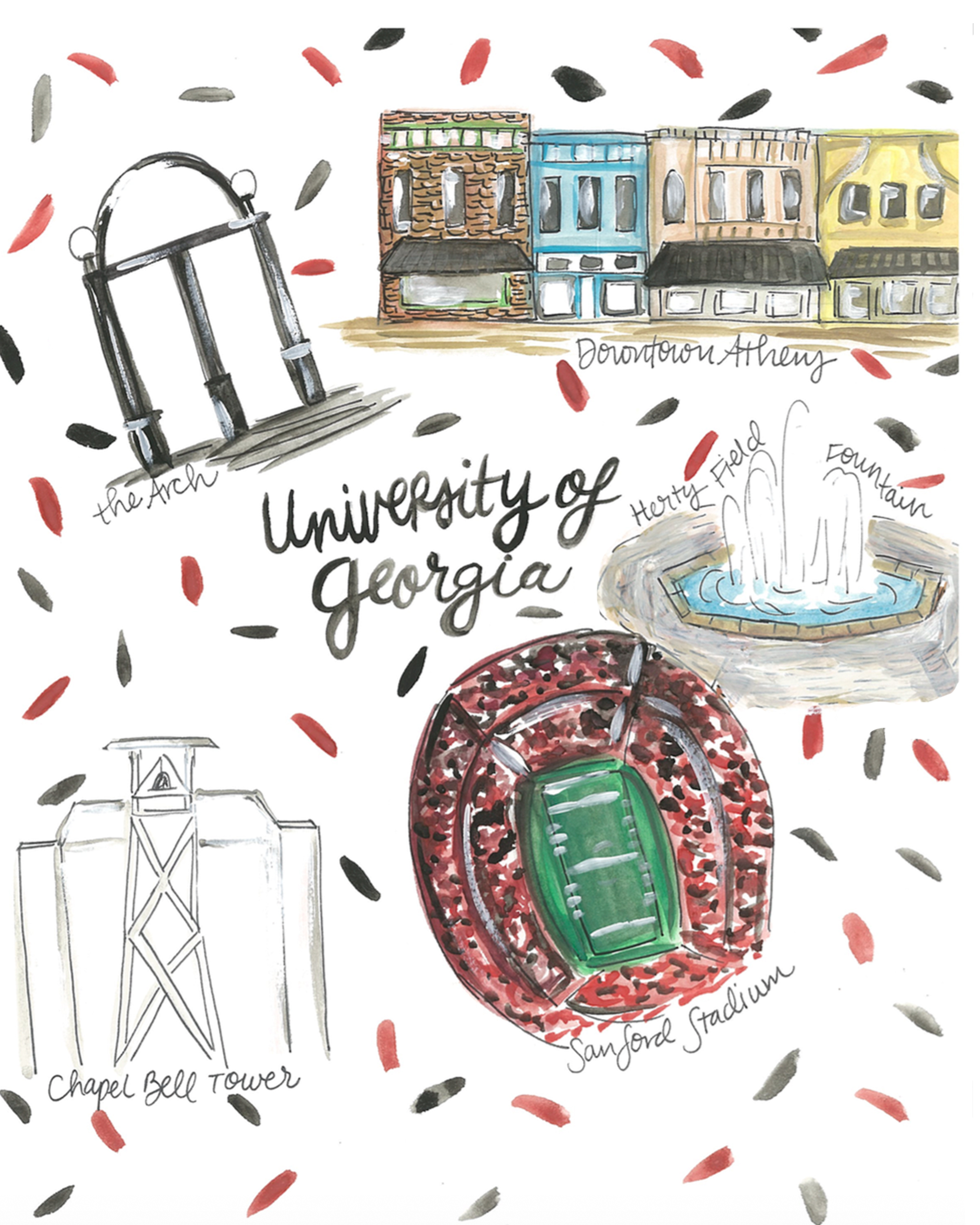 University of Georgia Map — Rachel Tenny