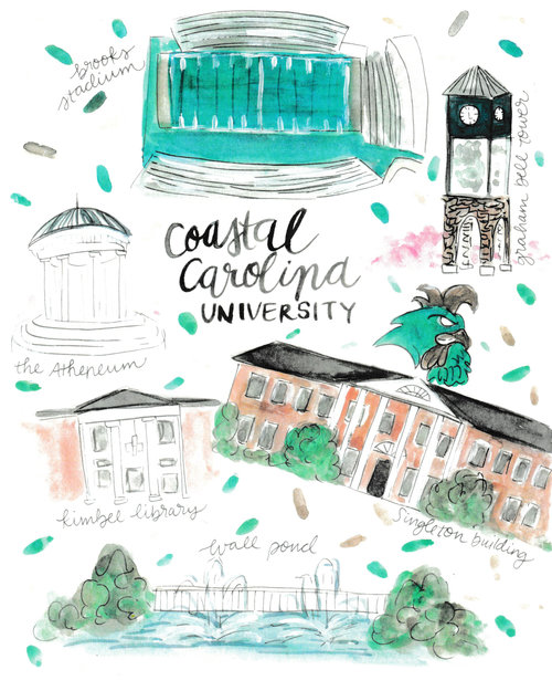Coastal Carolina Map Rachel Tenny