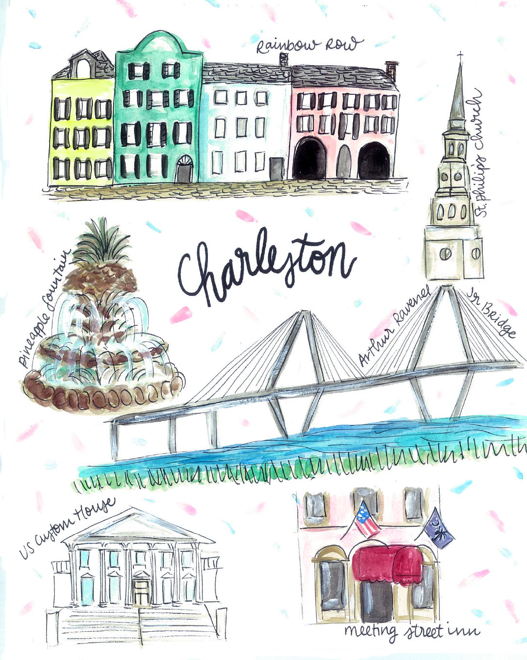 Charleston, SC Map — Rachel Tenny on