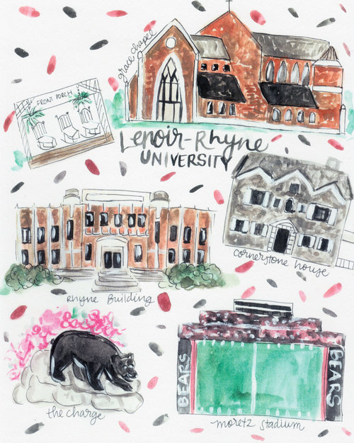 Lenoir Rhyne University Map Rachel Tenny