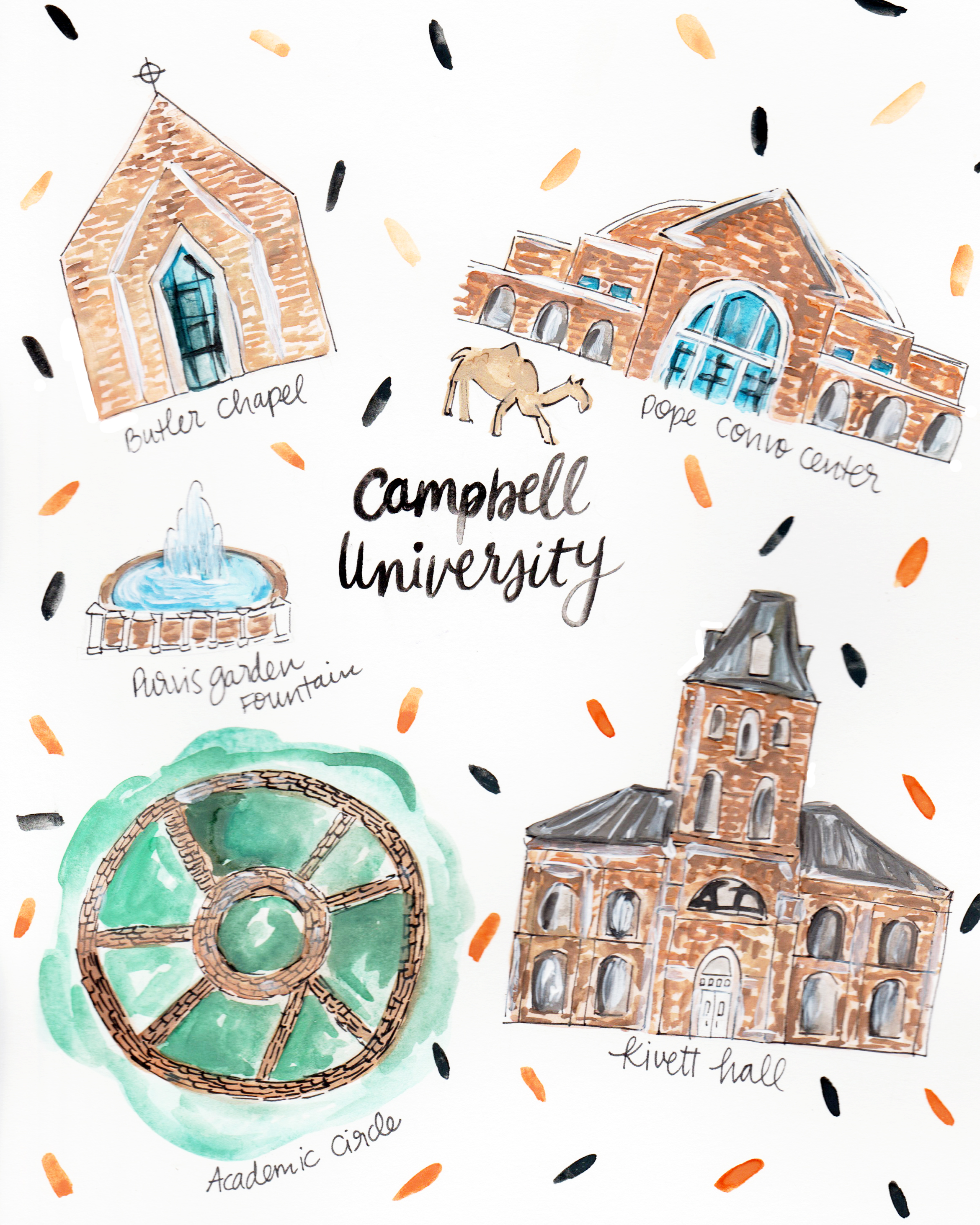 Campbell University Map — Rachel Tenny on