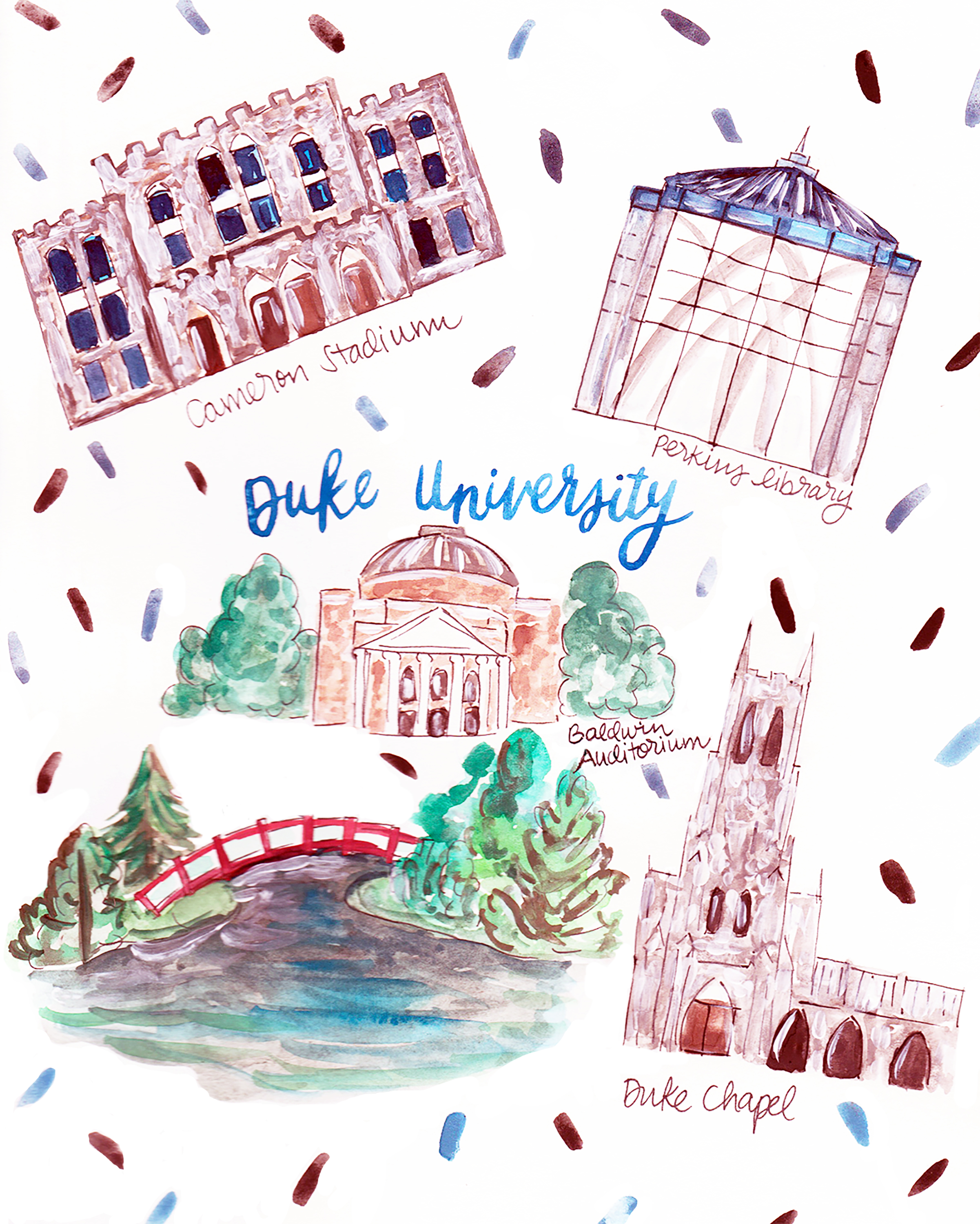 Duke University Map — Rachel Tenny on