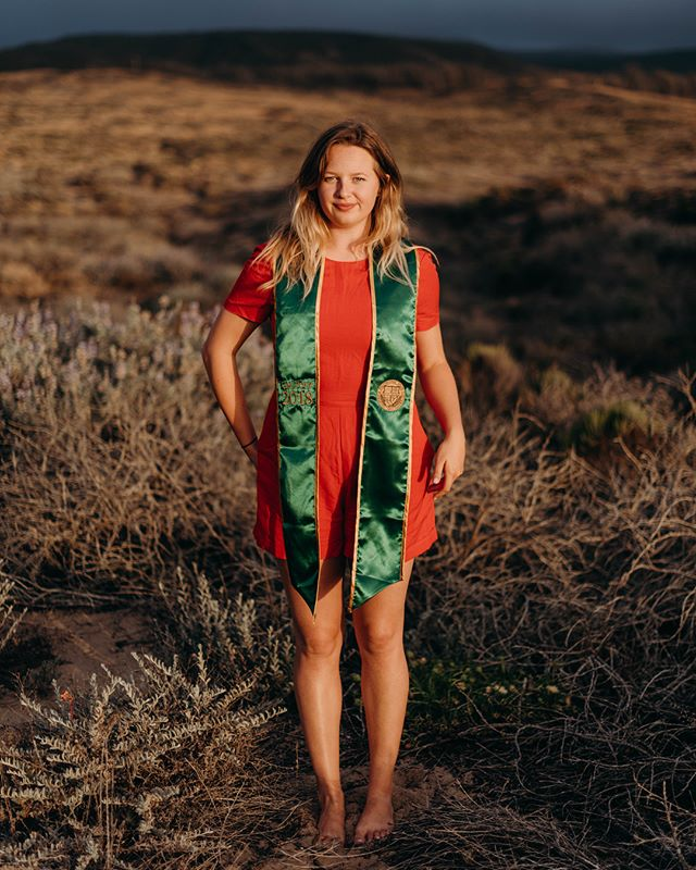 "My sister Jacci ""graduated"" from Cal Poly last weekend with a degree in architectural engineering - she has another quarter to finish her Construction Management minor. She'll be a structural engineer. .  Jacci and many classmates and faculty members wore red IX's on their caps and gowns to draw attention to the many Title IX cases that were mishandled or not handled at all this year at Cal Poly. For example, a man accused of sexual assault 6 times walked in the ceremony, and some girls went through Title IX cases for 9 months, though cases are only supposed to take 90 days. .  During her department ceremony she chose this MLK quote to be read: ""Our lives begin to end the day we become silent about the things that matter."" .  Jacci also wore her 1st Place bowling medal. .  We're quite proud of her."