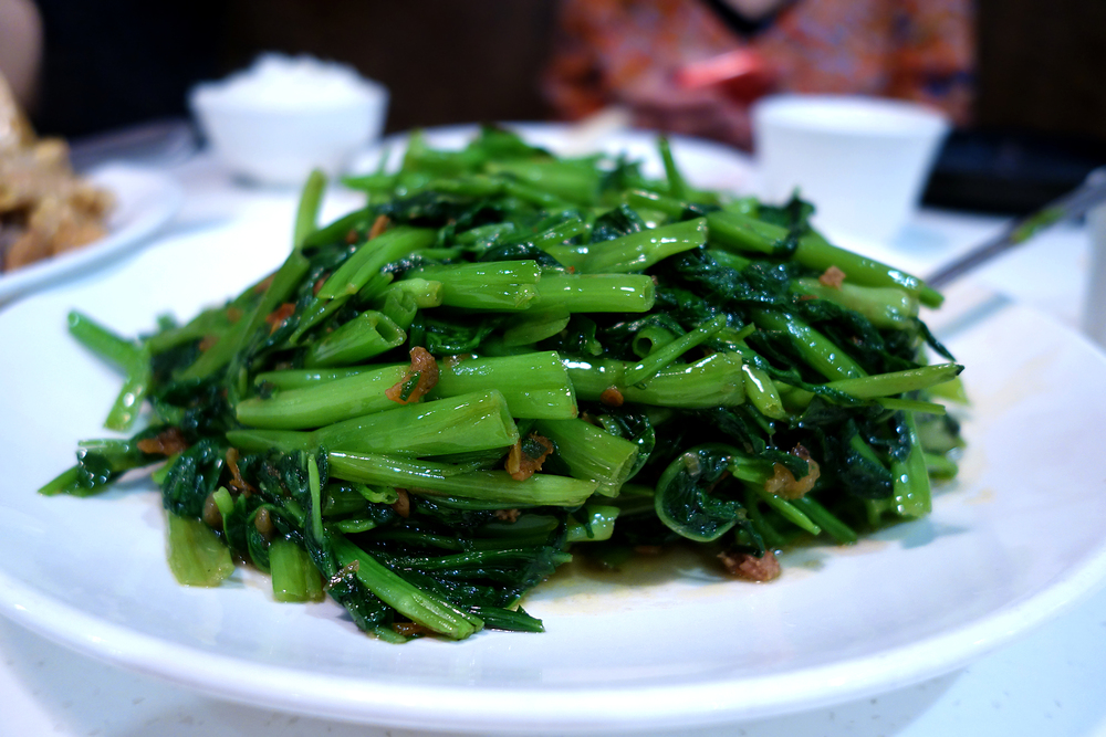 Ong Choy with shrimp paste