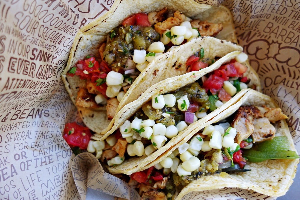 Corn tortilla Chicken tacos
