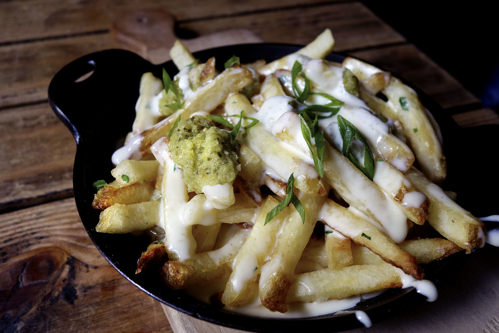 Fries with cheese whiz