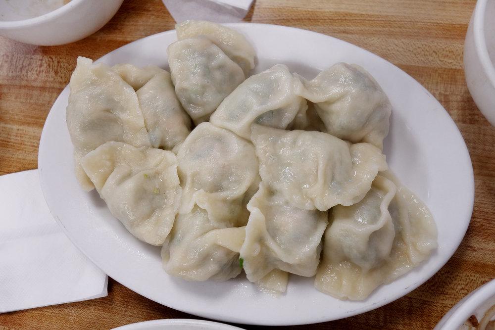 Leek, Pork and Shrimp Dumplings