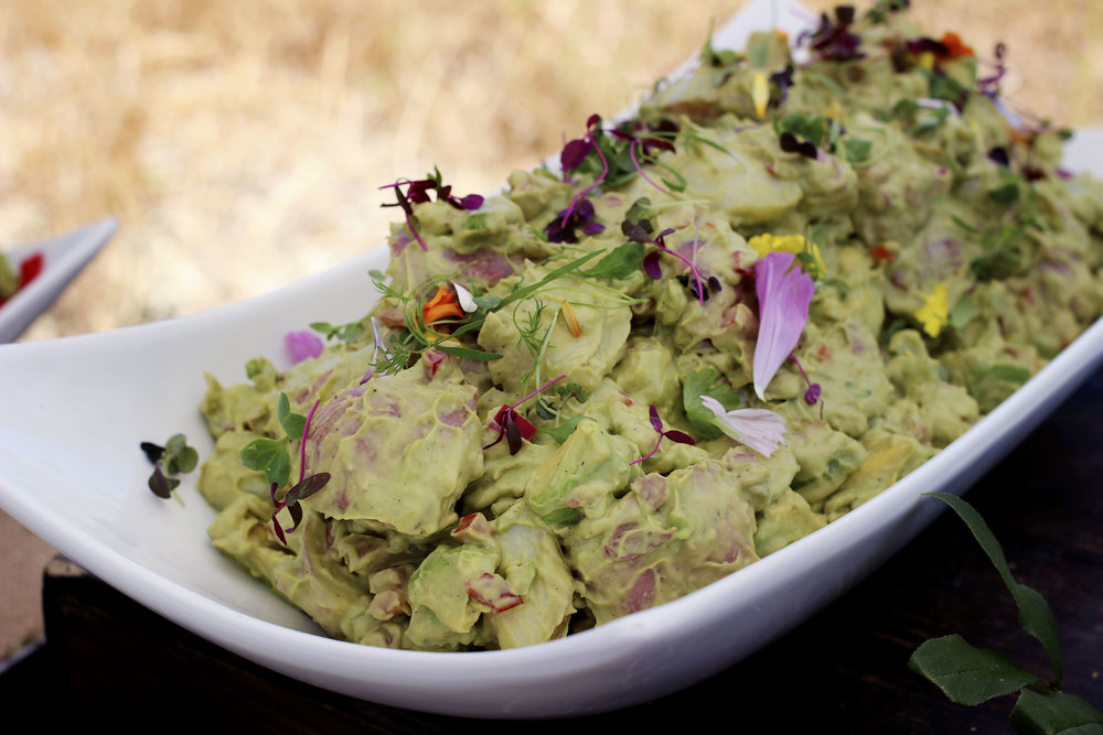 California Avocado Potato Salad - Sub Mayo for Avocados to still get that fatty richness you crave. The good fat, you know?
