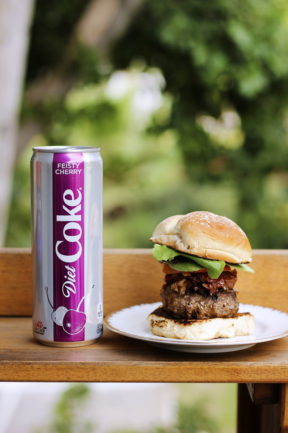Enjoy with a freezing cold can of  Diet Coke®Feisty Cherry.