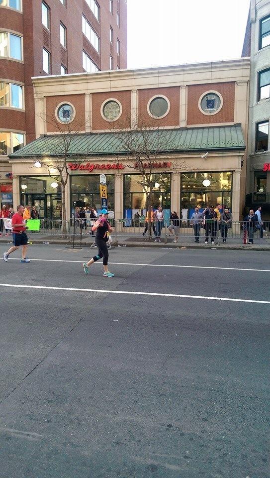 Boylston Street, finish line 2015 Boston Marathon