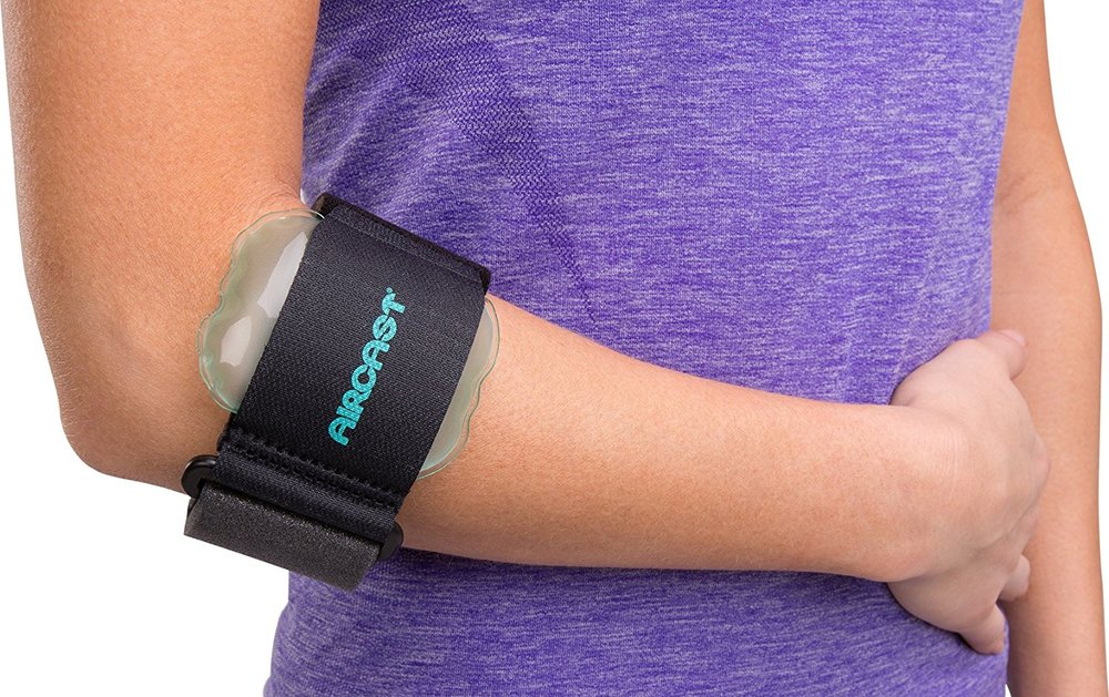 Brace for Tennis/Golf Elbow - We highly recommend using this brace if you start developing elbow pain while playing Tennis, Golfing, typing, and when gripping causes pain. This brace is very commonly used to treat epicondylitis, and helps to take the strain that gripping causes in the tendon attachment.