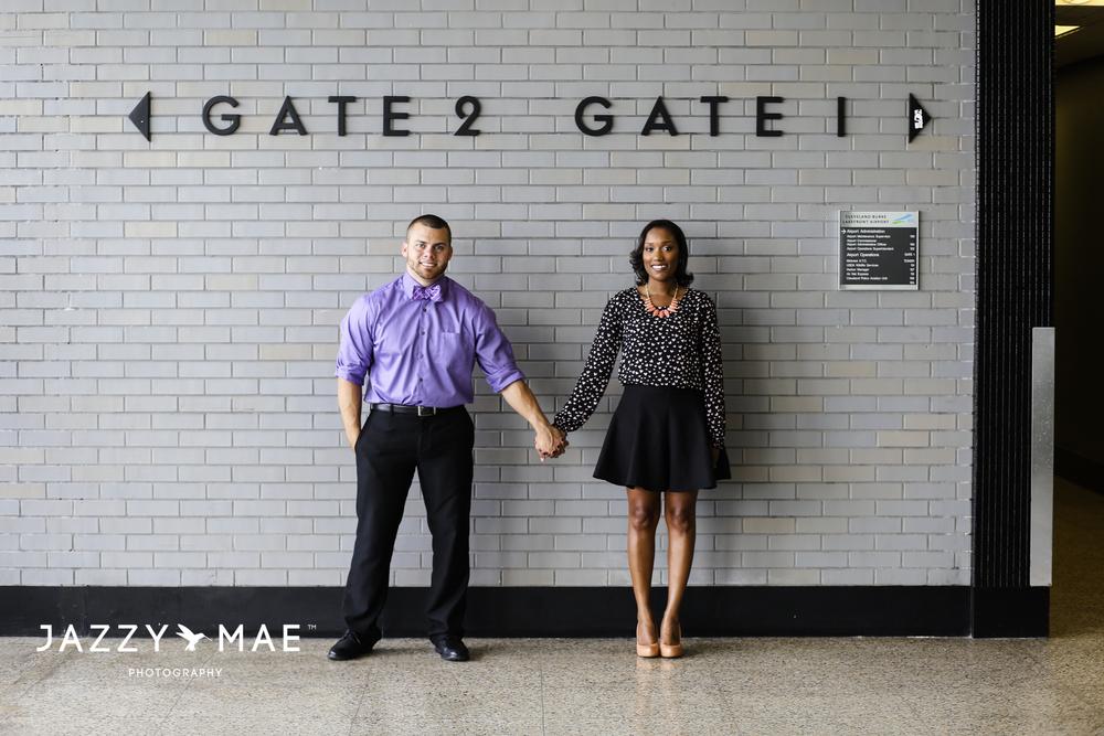 JOHNNY & BRYAUNE | Burke Airport | Cleveland Wedding Photography 2