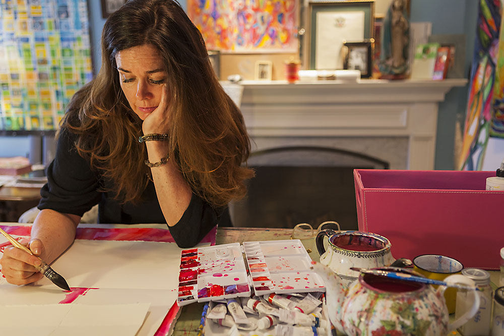 Fine Artist, American Painter: Maureen Claffy, at work