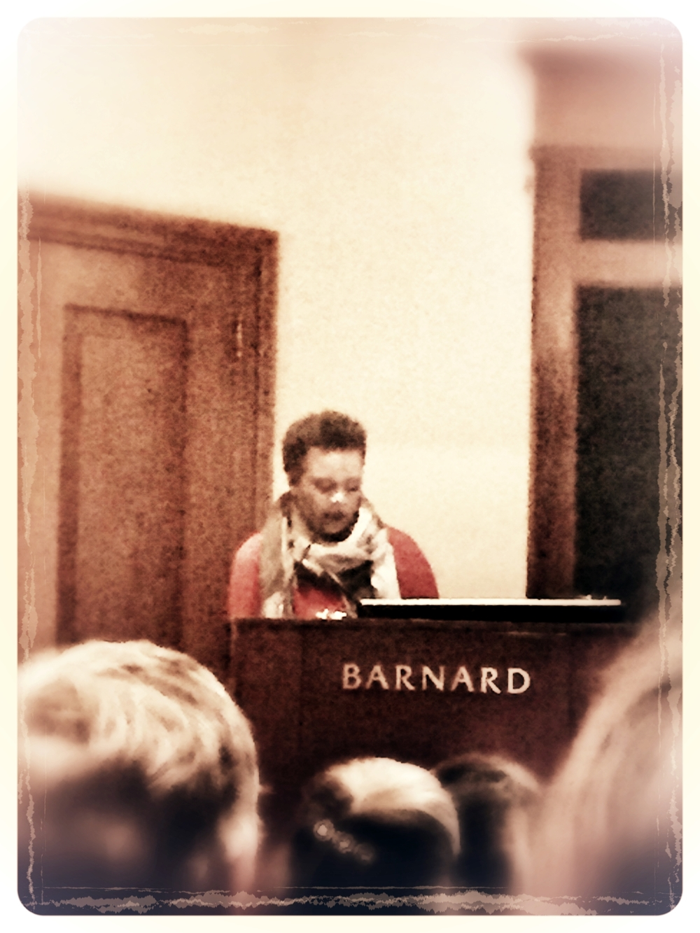 Claudia Rankine reading poetry from her book,  Citizen.  Photography by Amy Flyntz.