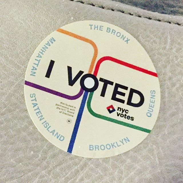 🌊You bet your ass (and ovaries) I did. 🌊#vote #unfuckamerica #makeamericasmartagain #amyflyntzcopywriting #nyc #brooklyn #thisiswhatdemocracylookslike