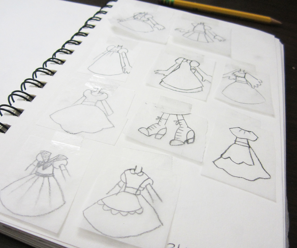 Here Are Some Examples Of Exploratory Tracing Paper Sketches I Made When Was Working On My Wizard Oz Illustration