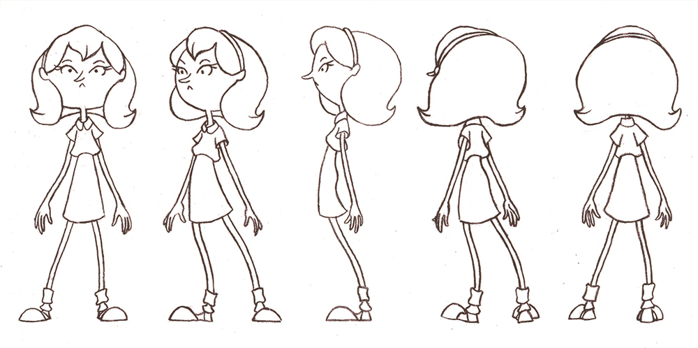 Simple Character Design Tutorial : Creating a character turnaround sheet — simple art tips