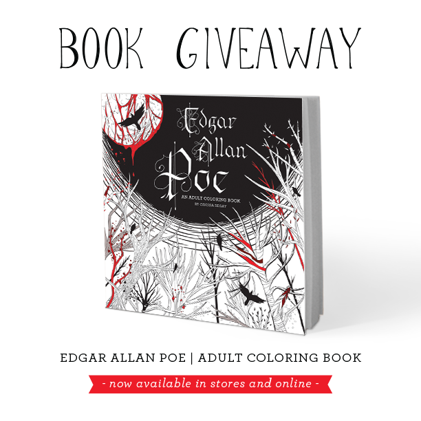 Good News If Youre A Fan Of Adult Coloring Books Edgar Allan Poe Halloween And FREE STUFF Maybe One Those People Who Just Generally