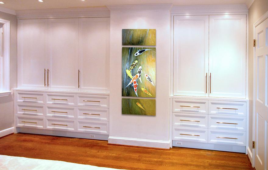 His and hers bedroom wardrobe dresser built ins  Georgetown  DC. BEDROOM   Jed Dinger Design