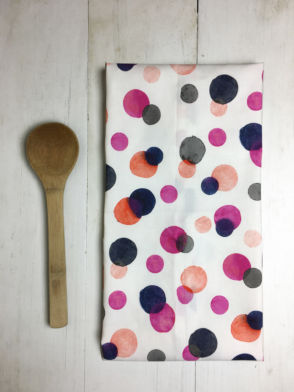 Magenta Confetti Dot Tea Towel