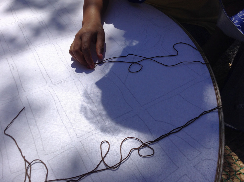 Collaborative Mapping, Collaborative Embroidery Society (2015), Lexie Owen Image courtesy of the artist