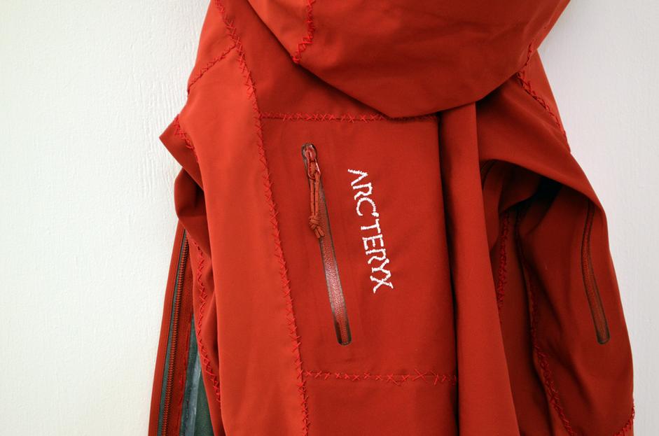 Arc'teryx Jacket (2014), Lexie Owen Detail Image courtesy of the artist