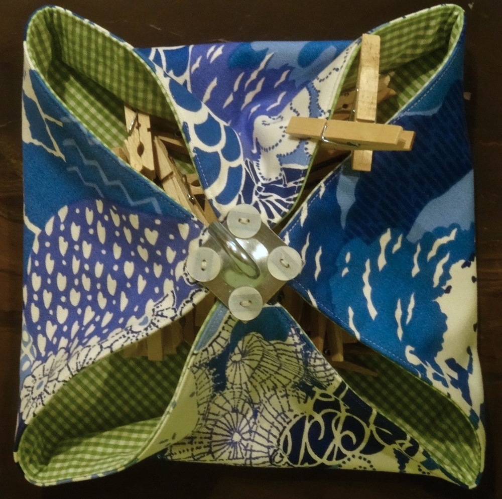 Clothespin Bag by Debra Walling, top view