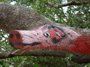 picture of someone's art among the mangroves