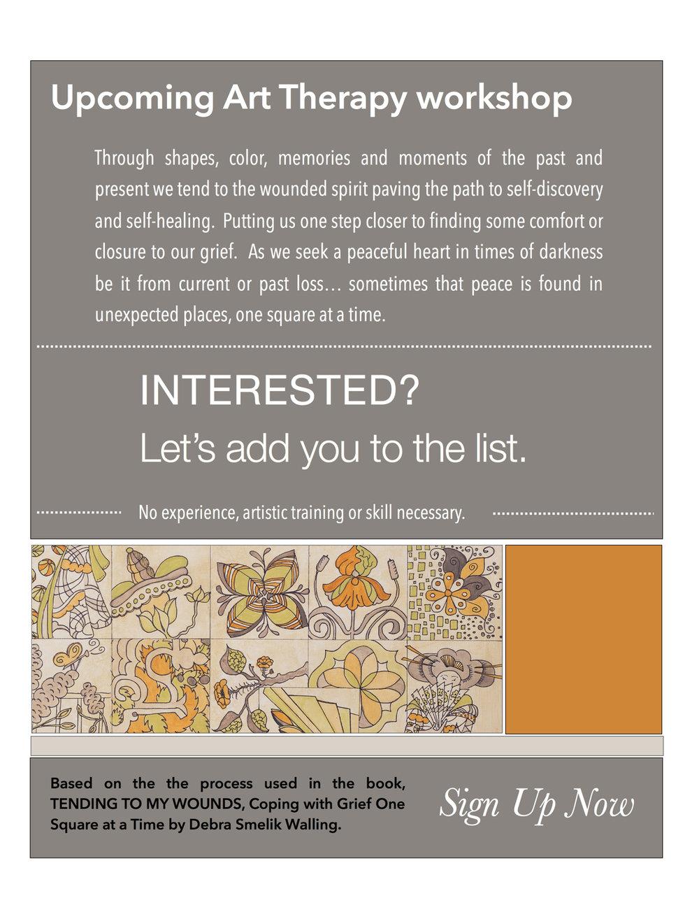 Art Therapy Workshop Flyer,1st workshop